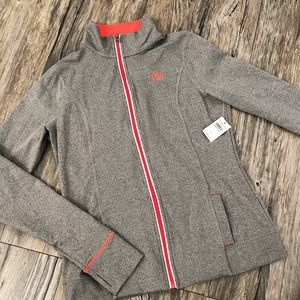 Abercrombie and Fitch Gray and Pink Active Jacket